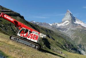 Aufstieg: Der LTR 1060 vor dem Matterhorn, dem meistfotografierten Berg der Welt.