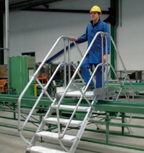 Aluminium-Übersteiger schützen vor Verletzungen.