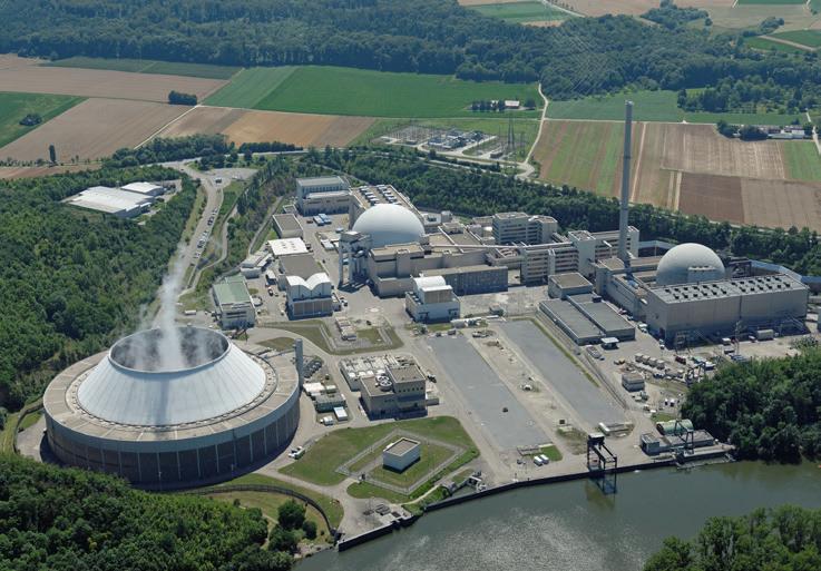 Der 1989 in Betrieb genommene Block 2 in Neckarwestheim geht 2022 als eines der letzten KKW Deutschlands endgültig vom Netz. (Bild: EnBW)