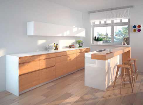 Planen, umsetzten, bauen und montieren Fabrice Erb stellt Küchen genau auf Kundenwusch her. Bei dieser modernen Küche wurde Eichenholz mit der Farbe weiss kombiniert. Die Fronten und Sichteile wurden hochabriebfest gespritzt. Als Abdeckung hat der Kunde einen weissen Kunststein gewählt.