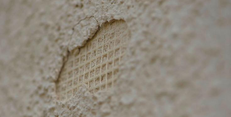 Hagelschaden an verputzter Fassade. (Quelle: VKF)