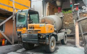 Ein DIECI Fahrmischer nach 4 Jahren hartem Einsatz im Tunnelbau.
