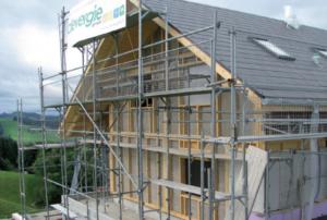 Der Neubau «Stöckli Sumiswald» ist mit Dämmplatten in Stärken von 60 mm bis 140 mm isoliert.