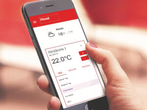 HovalConnect ist auch als gleichnamige mobile App erhältlich. (Bild: Hoval AG)