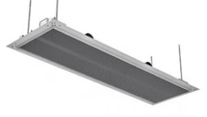 Beim DIKAL ist der Wärmeübertrager mit gefrästen Design-Aluminiumrippen ausgeführt. Das Gerät fügt sich dezent in das Raumdesign ein. Hier als Variante mit Anputzrahmen für Gipsdecken.